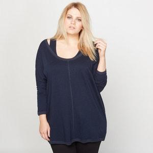2-in-1 Linen and Cotton T-Shirt with Vest Top CASTALUNA