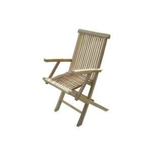 JALANG Lot de 2 fauteuils pliants en teck C ET L JARDIN