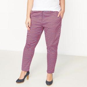 Pantalon fuselé 7/8ème stretch micro imprimé CASTALUNA