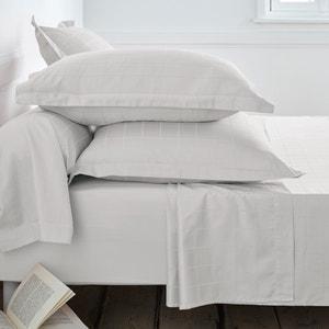 Cotton Satin Single Pillowcase with Large Checks La Redoute Interieurs