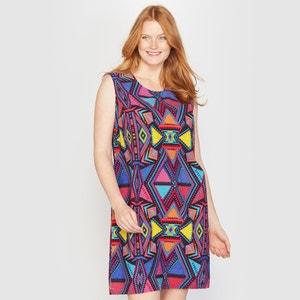 Sleeveless Ethnic Print Dress TAILLISSIME