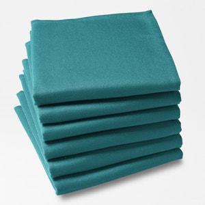 Serviette de table unie polyester (lot de 6) SCENARIO