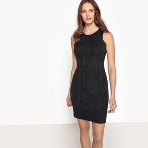 Plain Sleeveless Figure-Hugging Short Dress La Redoute Collections
