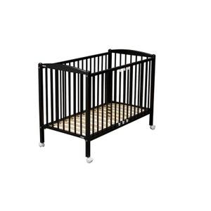 Lit de bébé Arthur 70 x 140 cm laqué noir COMBELLE COMBELLE