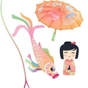 Stickers Japon : Ensemble ombrelle rose DECOLOOPIO