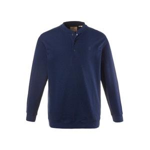 Plain Long-Sleeved T-Shirt with Grandad Collar JP1880