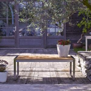 Banc d'extérieur en bois de teck et inox Arno TIKAMOON