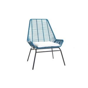 Lot de 2 fauteuils de jardin en fils de résine façon rotin TANGO MILIBOO