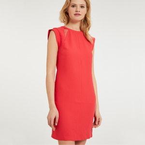 Korte rechte jurk zonder mouwen met ronde hals MORGAN