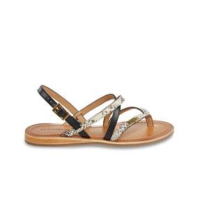 Platte sandalen in leer Home LES TROPEZIENNES PAR M.BELARBI