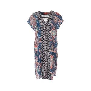 Bedrucktes Kleid, kurze Ärmel, gerade Schnittform RENE DERHY