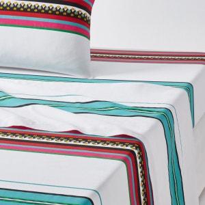 Drap plat imprimé, Nazca Blanc La Redoute Interieurs