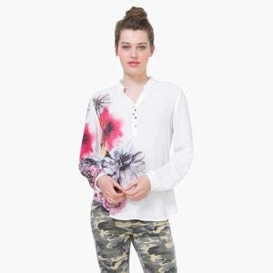 Blusa estampada, mangas para dobrar DESIGUAL