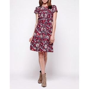 Bedrucktes Kleid mit kurzen Ärmeln YUMI