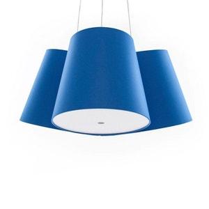 CLUSTER - Suspension 3 Abat-jours Bleu Ø39cm FRAUMAIER