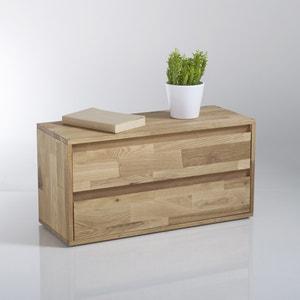 Étagère rangement 2 tiroirs, chêne massif, Edgar La Redoute Interieurs