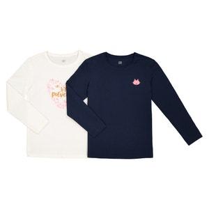 Set van 2 T-shirts met lange mouwen 3-12 jaar La Redoute Collections