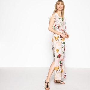 Robe droite très longue imprimée fleurs La Redoute Collections