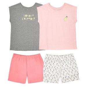 Pyjashort 10-16 ans, lot de 2 La Redoute Collections