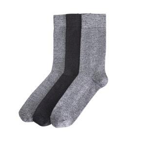 Set van 3 paar sokken, getwijnd tricot