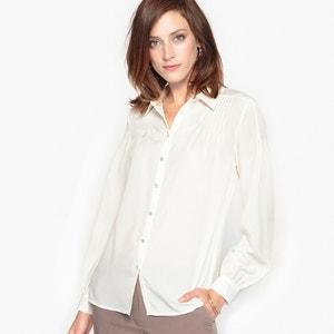 Camisa com charme, em crepe ANNE WEYBURN
