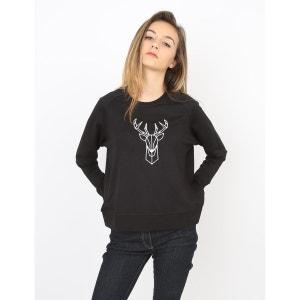 Sweat-shirt Femme Cerf de noël BACK TO BASE