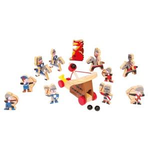 Coffret de figurines en bois 19 pièces : Chevaliers JANOD