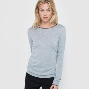 Jersey con cuello redondo, mezcla de lana R essentiel