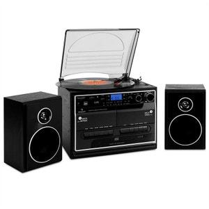 388-BT Chaine stéréo platine vinyle K7 Bluetooth AUNA