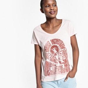 Bedrukt T-shirt met ronde hals en korte mouwen UNIVERSAL