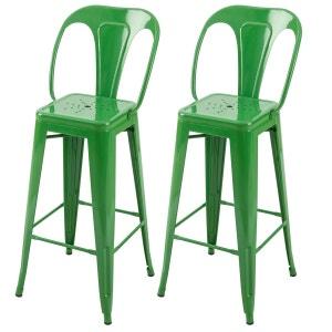 Chaise de bar Indus brillant 76 cm (lot de 2) RENDEZ VOUS DECO