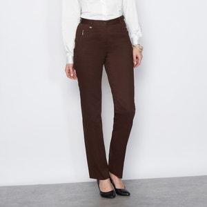 Stretch Cotton Satin Trousers ANNE WEYBURN