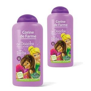 Lot de 2 Gels douche Fée Clochette Disney Corps et Cheveux 250ml CORINE DE FARME