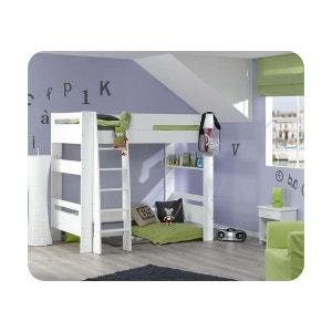 Pack Lit mezzanine enfant Wax 90x190 cm avec matelas MA CHAMBRE D'ENFANT