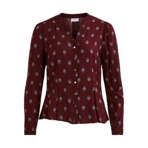 Bedrukte blouse met tuniekhals