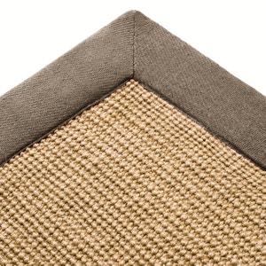 Tapete em juta, debrum em algodão, 4 tamanhos, Damya La Redoute Interieurs