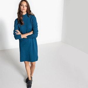 Cotton/Cashmere Turtle Neck Jumper/Sweater Dress La Redoute Collections