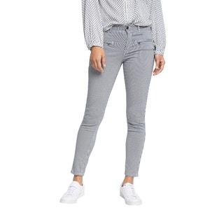Spodnie w paski, 5 kieszeni, długość 28 ESPRIT