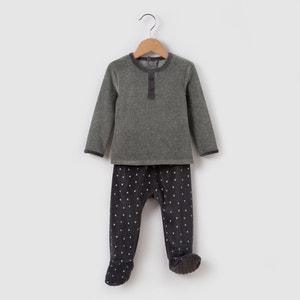 Pijama 2 prendas de terciopelo 0 meses-3 años R mini