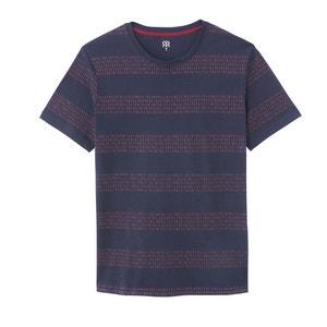 Gestreept T-shirt met ronde hals