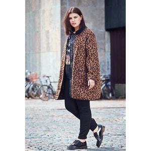 Cappotto donna mezza stagione media lunghezza fantasia leopardata ZIZZI