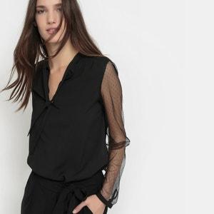 Bluzka z rękawami z haftem atłaskowym MADEMOISELLE R