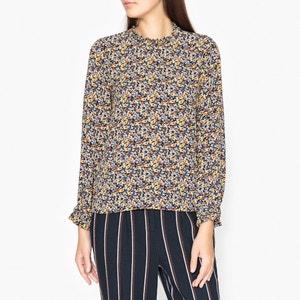 Bedrukte blouse met fronsjes GOA TOUPY