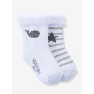 Lot de 2 paires de chaussettes bébé Bio Collection VERTBAUDET