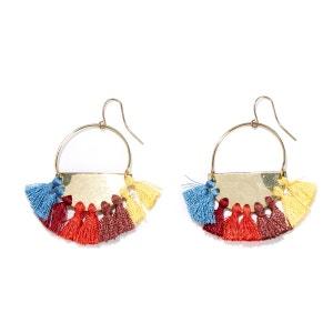 Boucles d'oreilles métal et pompon La Redoute Collections