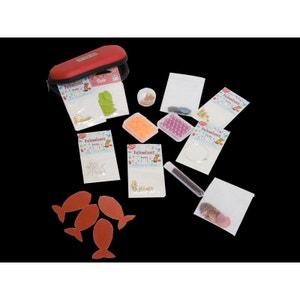 Pochette création bijoux, 450 toupies Swarovski, nacres et fermoirs - Perles Box PERLES BOX