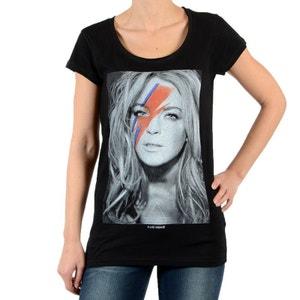 Tee Shirt Eleven Paris Linda W Lindsay Lohan Noir ELEVEN PARIS
