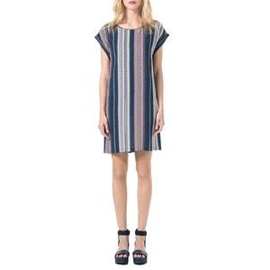 Short-Sleeved Ethnic Knee-Length Dress BEST MOUNTAIN