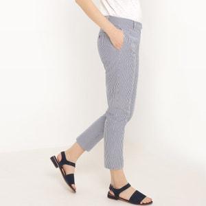 Pantaloni slim, seersucker R essentiel