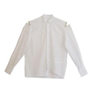 Chemise de smoking blanche zipée WYLDE